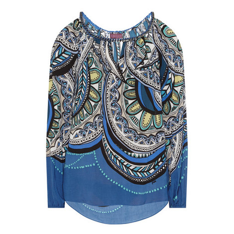 Cold-Shoulder Print Tunic , ${color}