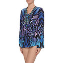 Animal Print Kaftan Top, ${color}