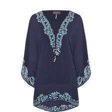 Floral Embroidered Cover-Up