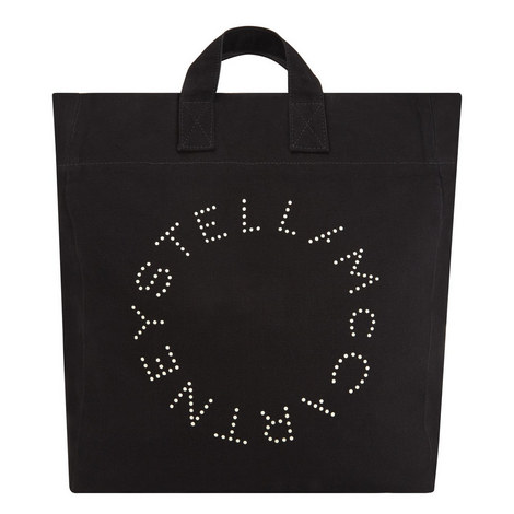 Logo Print Beach Bag, ${color}