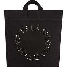 Logo Print Beach Bag