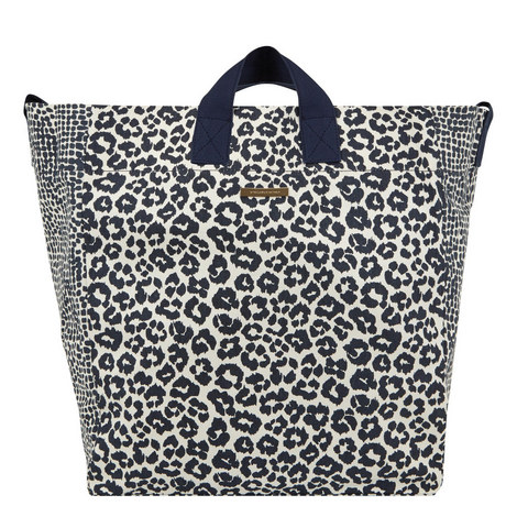 Mxd Anml Beach Bag Blu Leopard, ${color}