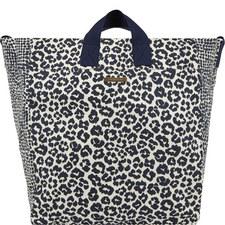 Mxd Anml Beach Bag Blu Leopard