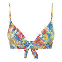 Iconic Flower Print Bikini Top, ${color}