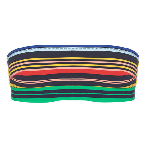 Stripe Bandeau Bikini Top, ${color}