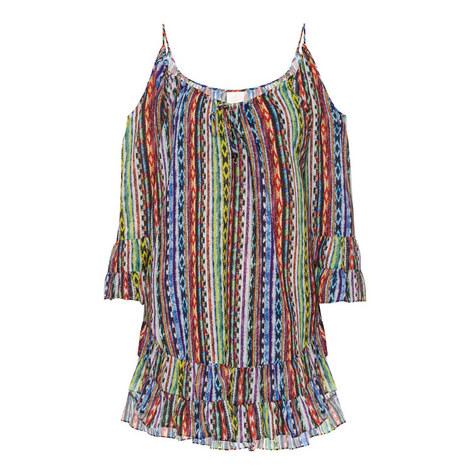 Beach Blanket Cold Shoulder Dress, ${color}