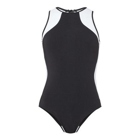 Classique High Neck Swimsuit, ${color}