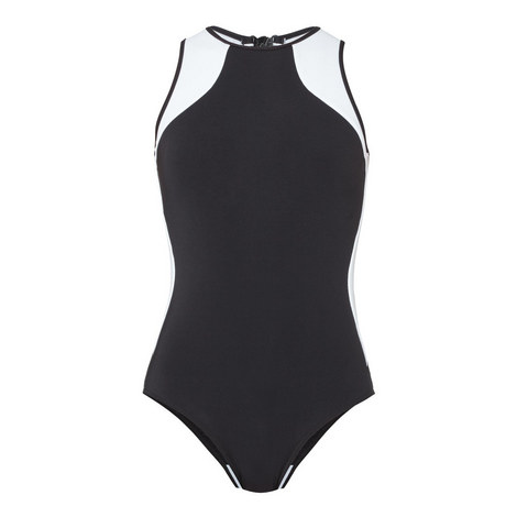 Classique High Neck Swimsuit, ${color}