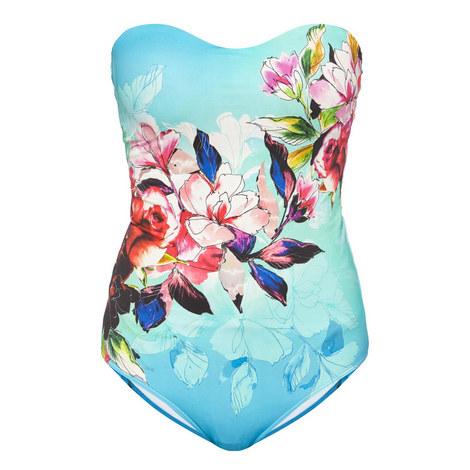 Flora Bandeau Swimsuit, ${color}