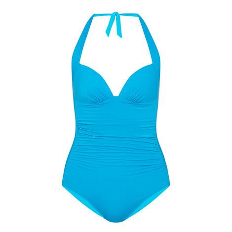 Jet Set Halter-Neck Swimsuit, ${color}