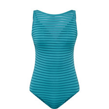Parallels Overlay Swimsuit
