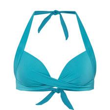 Jet Set Halter-Neck Bikini Top