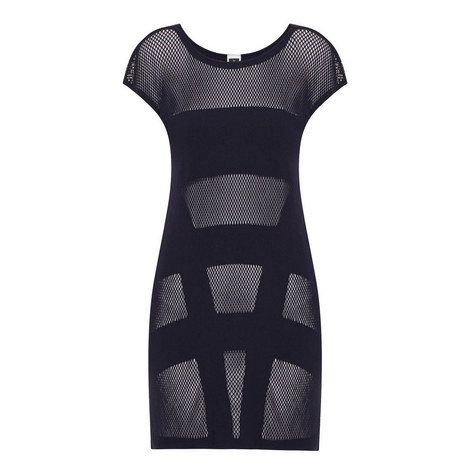 Parallels Mesh Dress, ${color}