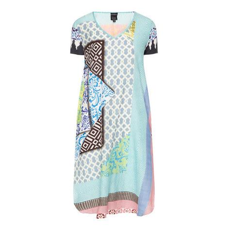 Tile Print Silk Tunic, ${color}