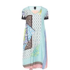 Tile Print Silk Tunic