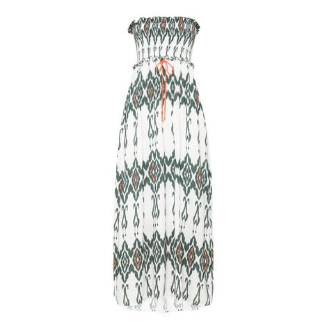 Polynesia Smocked Bandeau Maxi Dress, ${color}