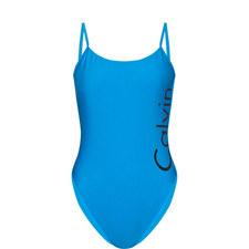 Logo Low Back Swimsuit