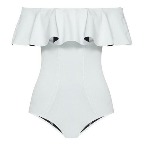 Mira Flounce Swimsuit, ${color}