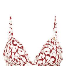 Reggipetto Leopard Print Bikini Top