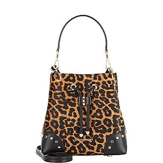 Leopard Mercer Gallery Small Bucket Bag