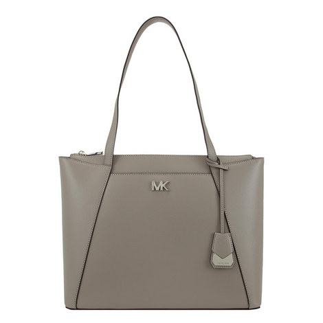Maddie Leather Tote Medium, ${color}