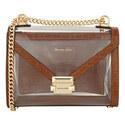Whitney PVC Large Shoulder Bag, ${color}