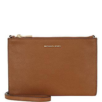 Adele Double Zip Crossbody Wallet