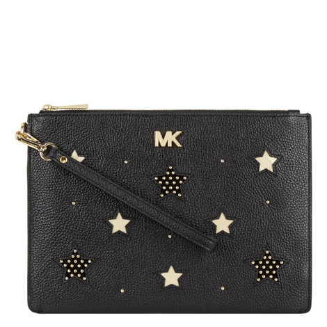 Leather Star Pouch Bag, ${color}
