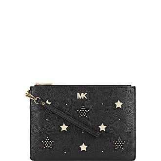 Leather Star Pouch Bag