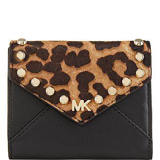 Leopard Mott Medium Wallet
