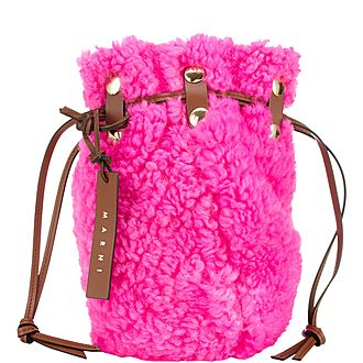 Bindle Shearling Bucket Bag