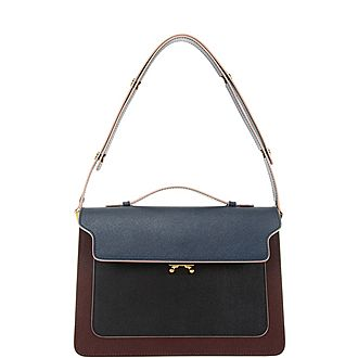 Colour Block Medium Shoulder Bag