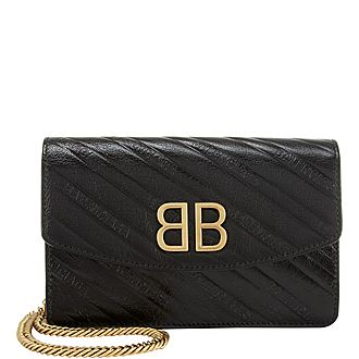 BB Leather Logo Bag