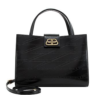 Sharp Monogram Medium Tote
