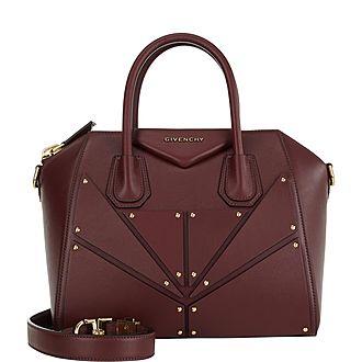 Antigona Small Studded Shoulder Bag
