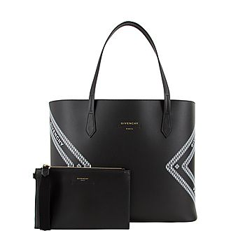 Logo Wing Shopper Tote