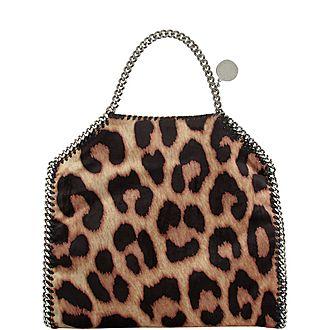 Falabella Leopard Foldover Tote