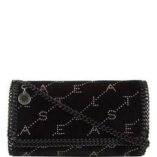 Velvet Crystal Crossbody Bag