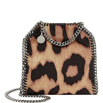 Falabella Tiny Leopard Print Shoulder Bag