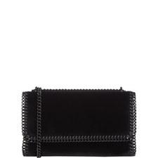 Falabella Velvet Flap Shoulder Bag