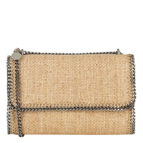 Falabella Raffia Shoulder Bag, ${color}