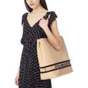 Raffia Shopper Tote, ${color}