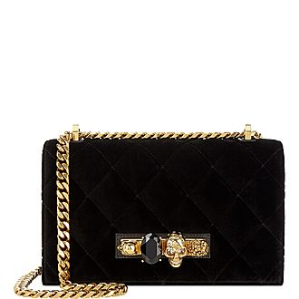 Jeweled Velvet Satchel