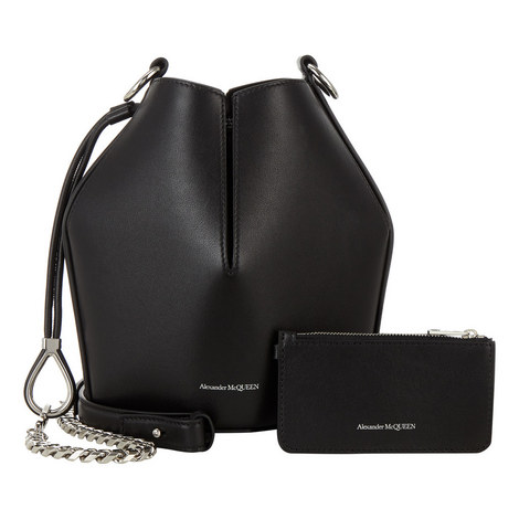 Leather Small Bucket Bag, ${color}
