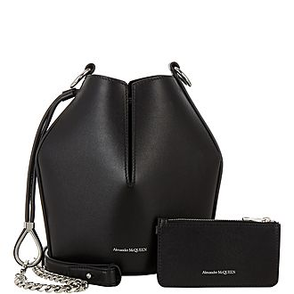 Leather Small Bucket Bag