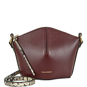 Nicole Python Mini Bucket Bag