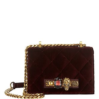 Jewel Velvet Small Satchel
