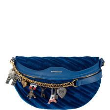 Velour Logo Belt Bag