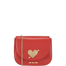 Pave Heart Shoulder Bag