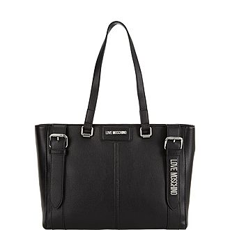 Letter Buckle Tote